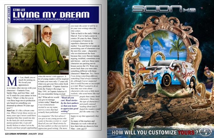 Stan Lee Article/Scion Ad